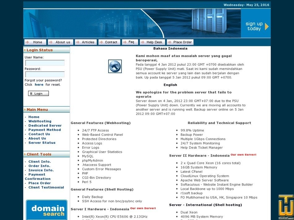muliahost.com Screenshot