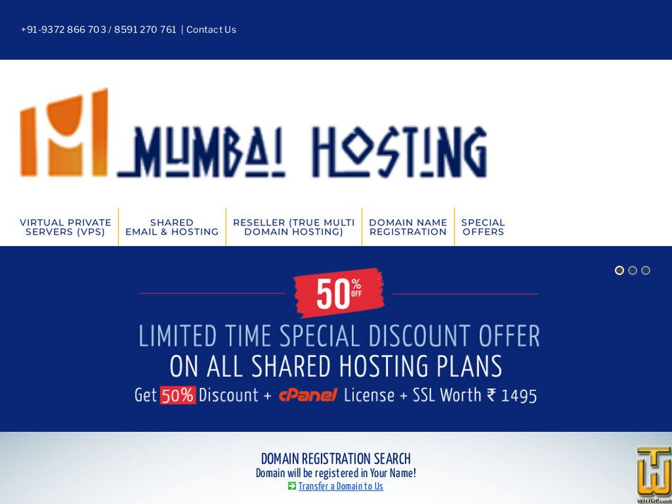 mumbaihosting.com Screenshot