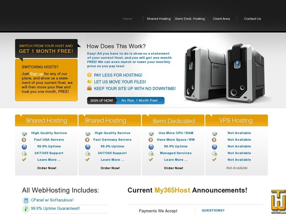 my365host.com Screenshot