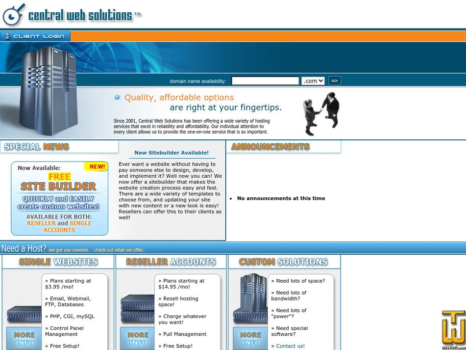 mycws.com Screenshot