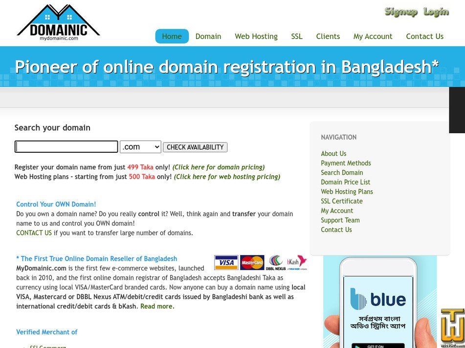 mydomainic.com Screenshot