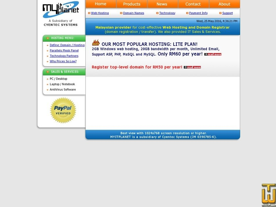 myitplanet.com Screenshot