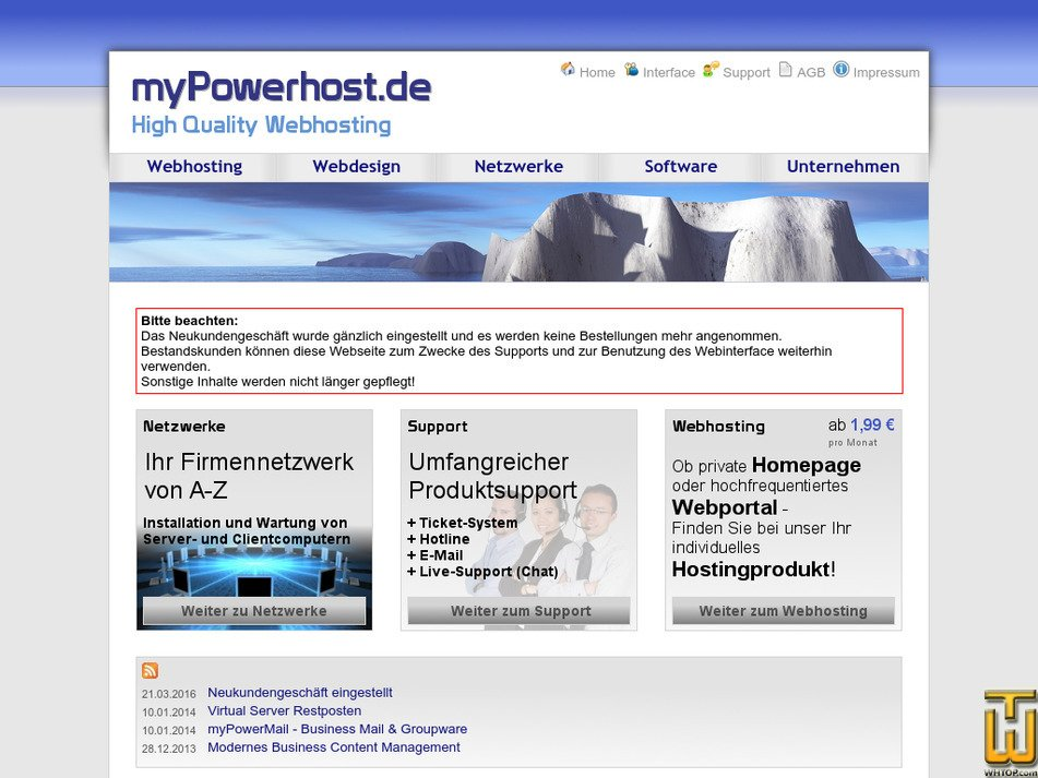 mypowerhost.de Screenshot