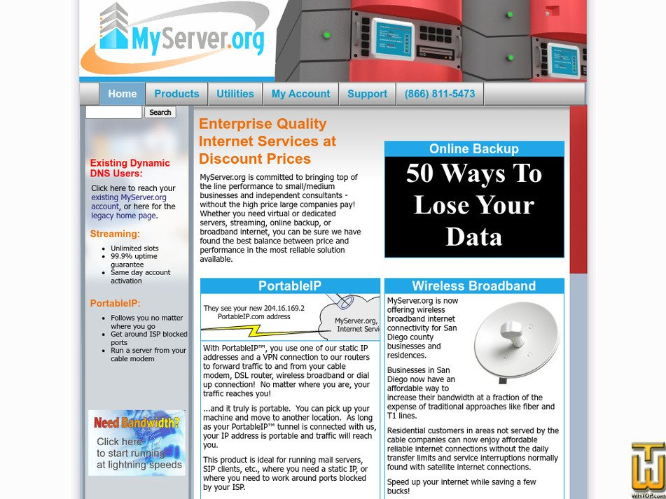 myserver.org Screenshot
