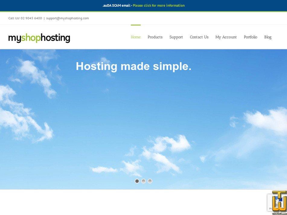 myshophosting.com Screenshot