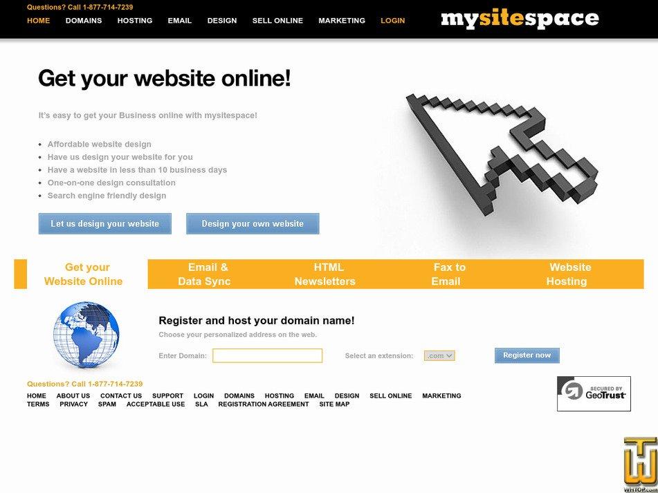 mysitespace.com Screenshot