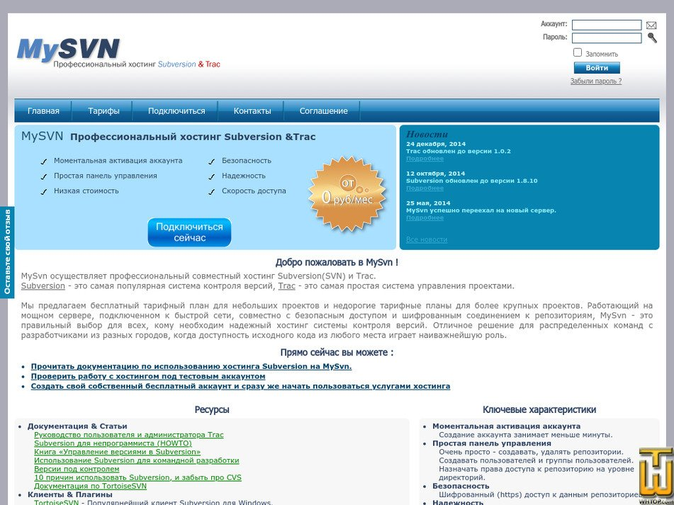 mysvn.ru Screenshot