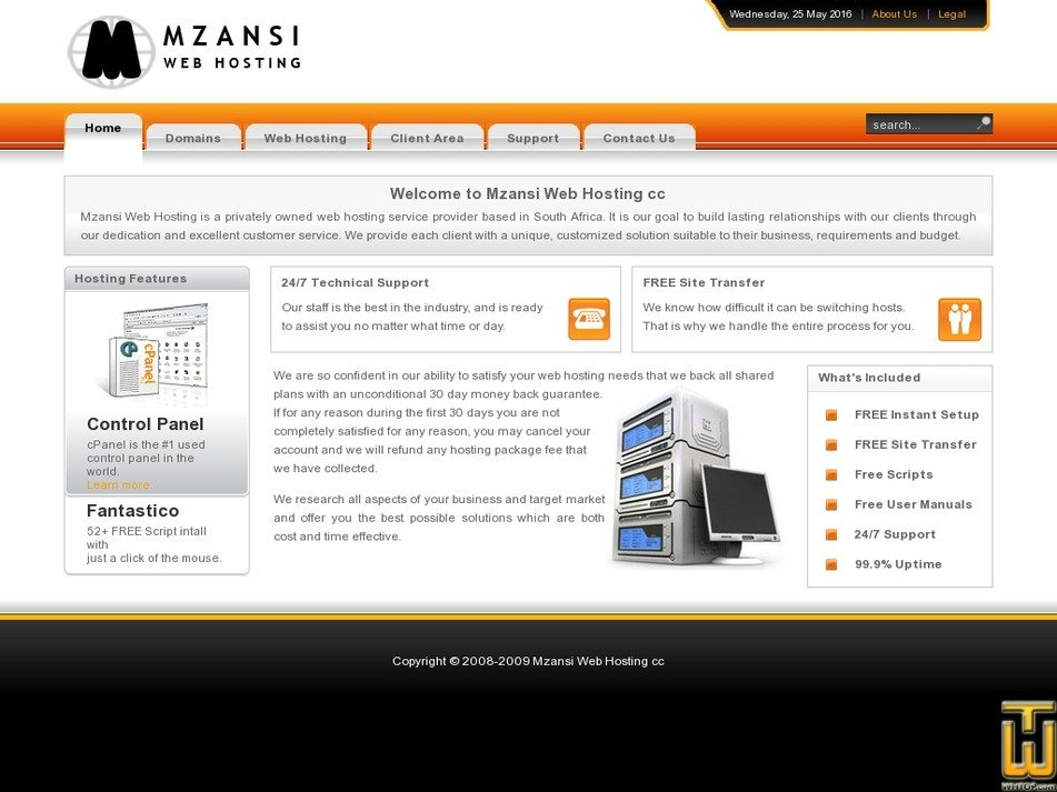mzansiwebhosting.co.za Screenshot