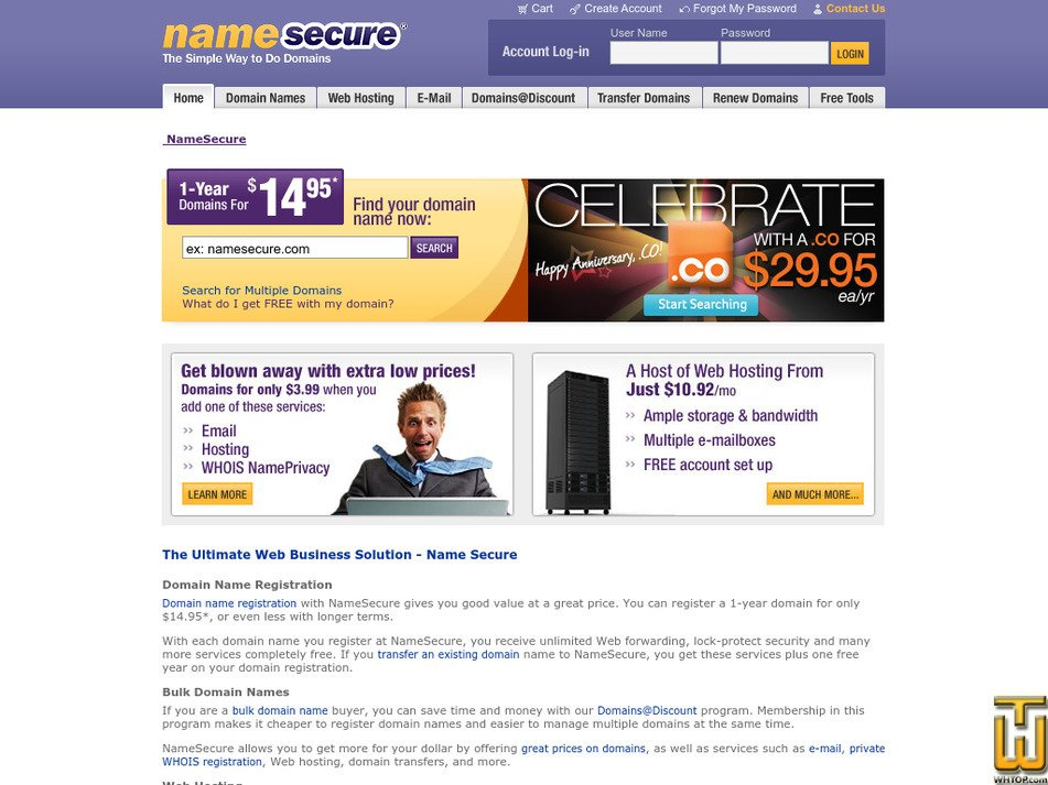 namesecure.com Screenshot