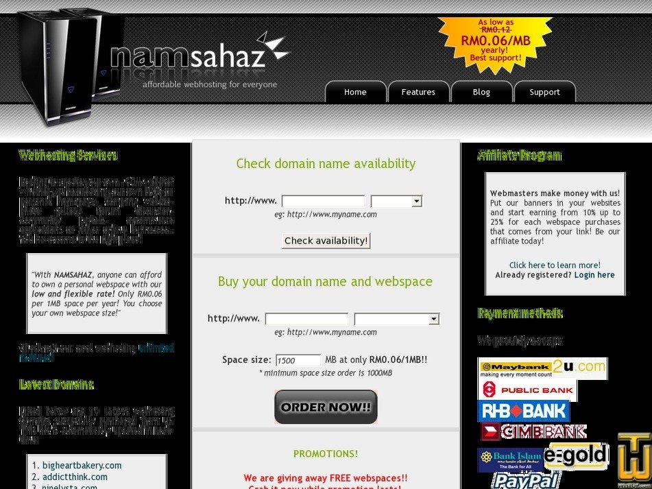 namsahaz.com Screenshot