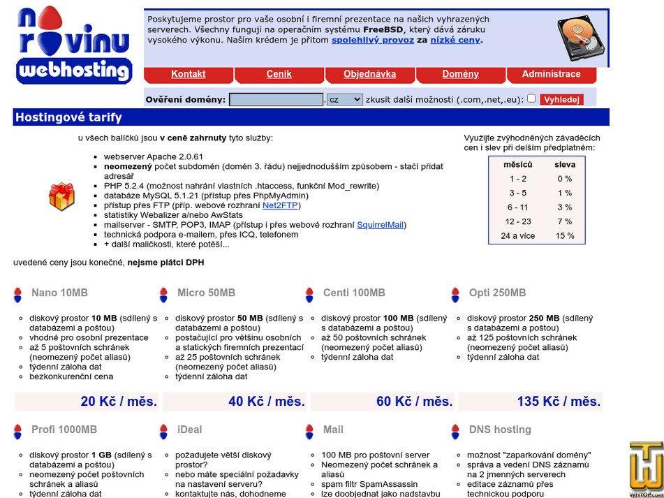 narovinu.cz Screenshot