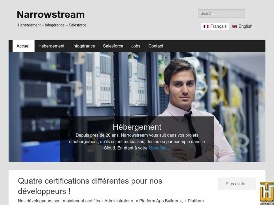 narrowstream.net Screenshot