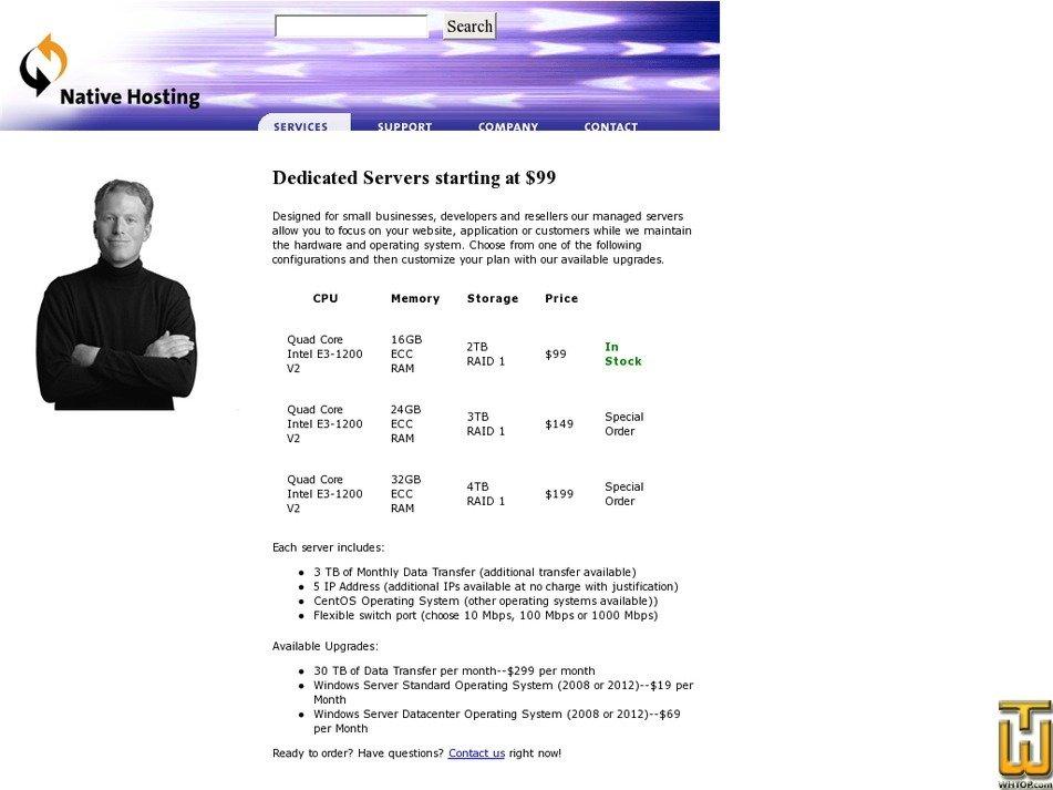 nativehosting.com Screenshot