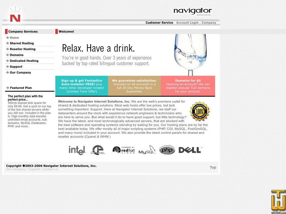 navigatoris.net Screenshot