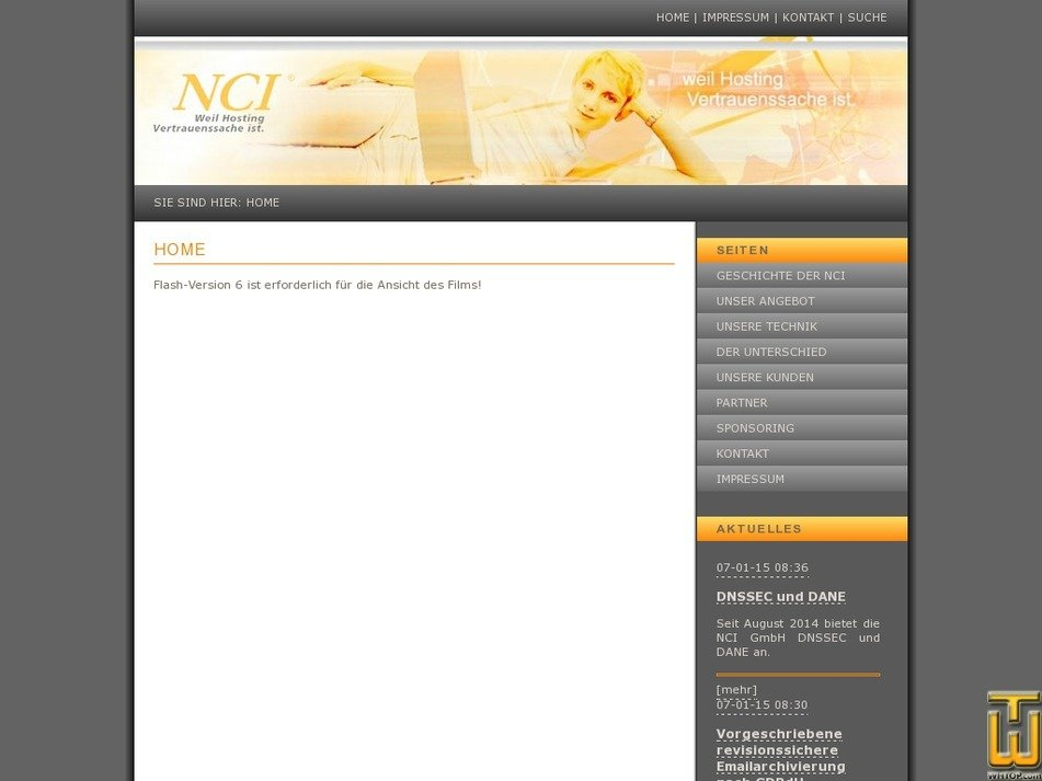 nci.de Screenshot