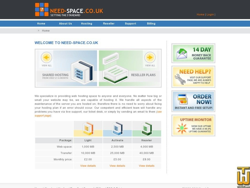 need-space.co.uk Screenshot