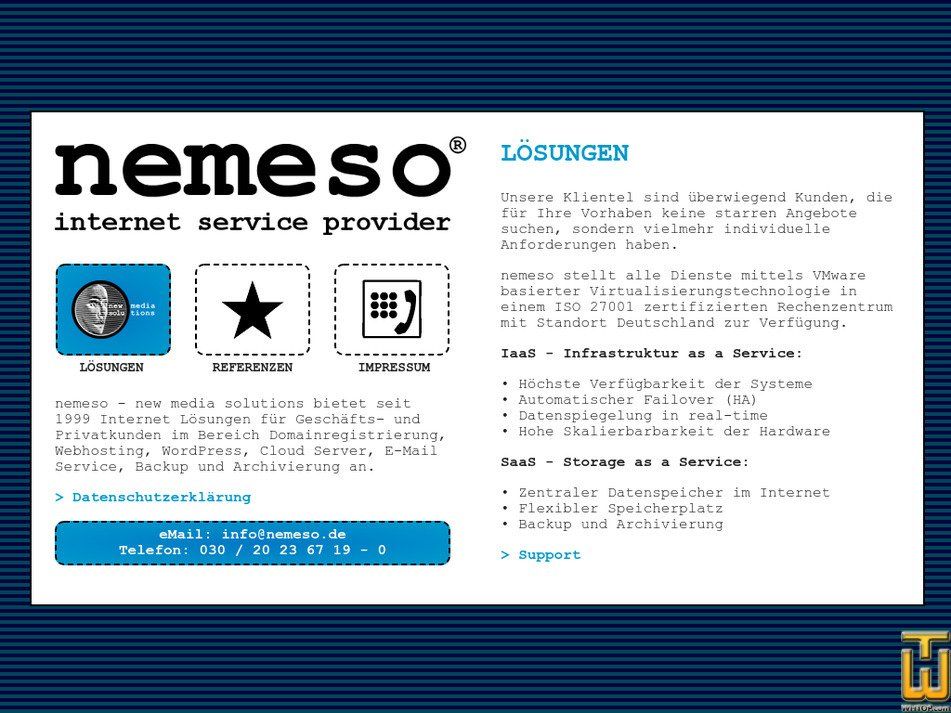 nemeso.de Screenshot