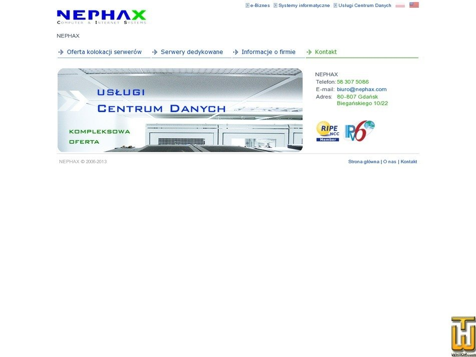 nephax.com Screenshot