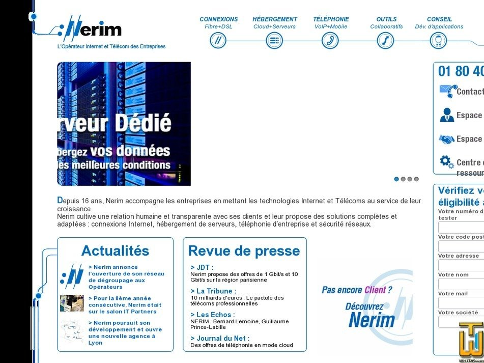 nerim.fr Screenshot
