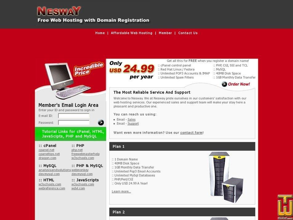 nesway.com Screenshot