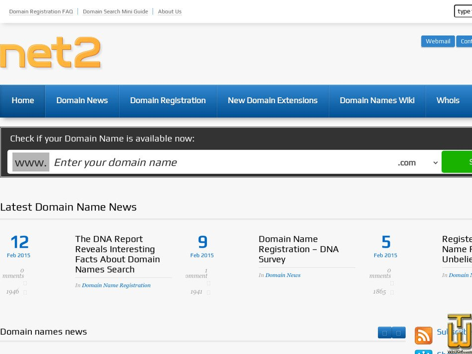 net2.co.uk Screenshot
