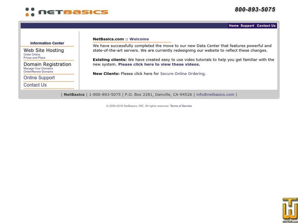 netbasics.com Screenshot
