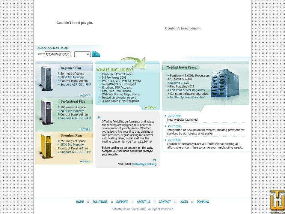 netcatalyst.net.au Screenshot