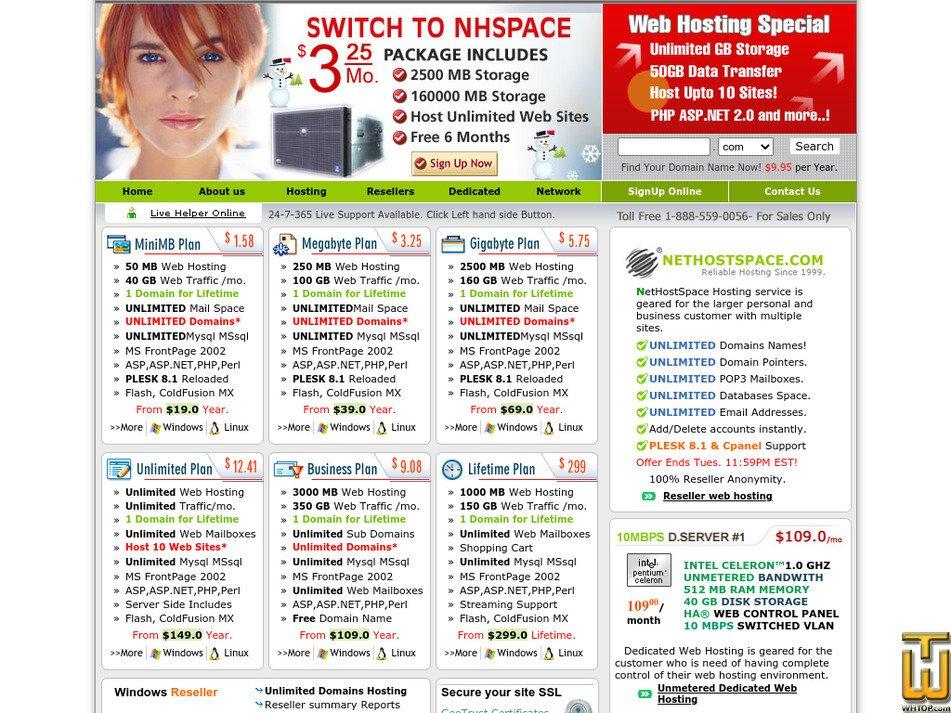nethostspace.com Screenshot