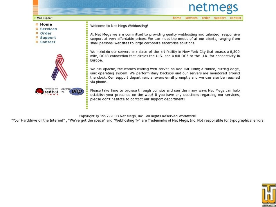 netmegs.com Screenshot