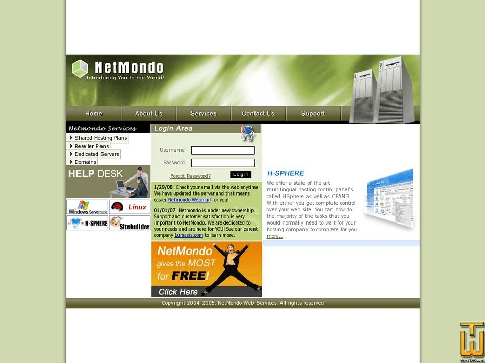 netmondo.com Screenshot