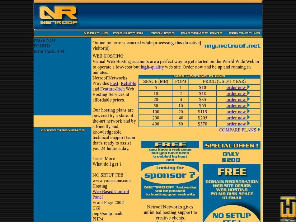 netroof.net Screenshot
