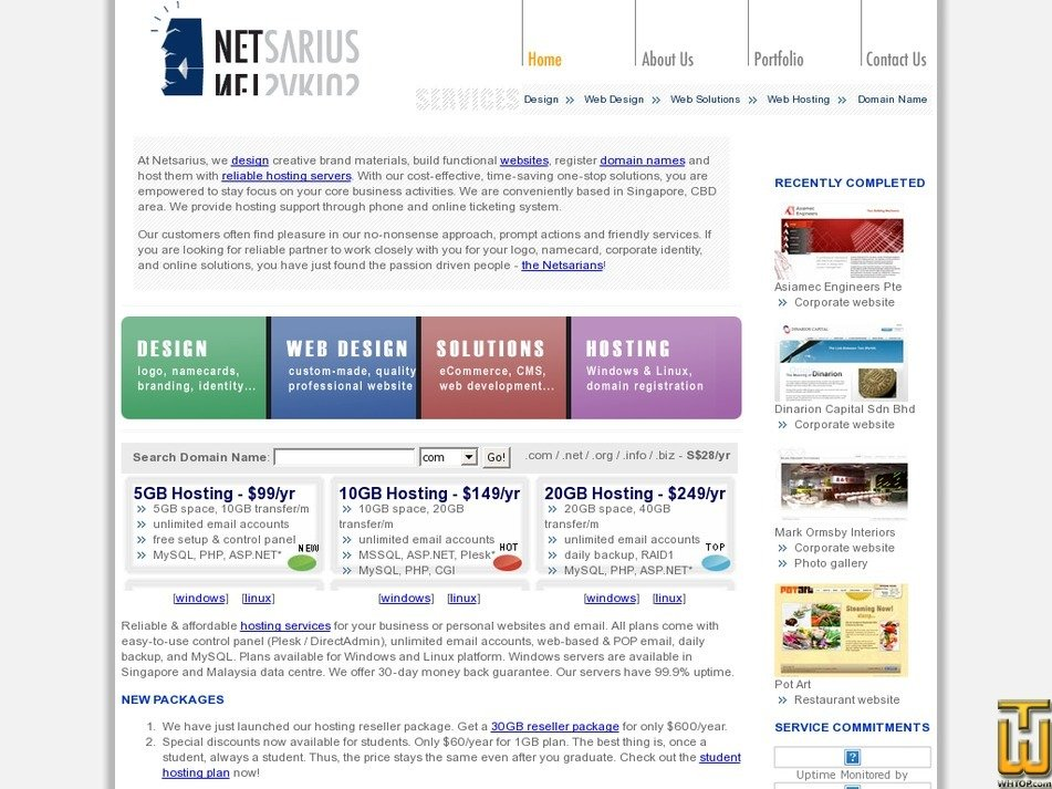 netsarius.com Screenshot