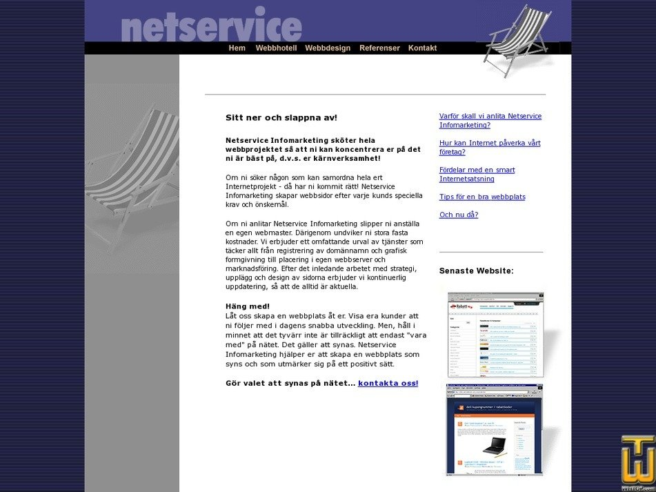 netservice.se Screenshot