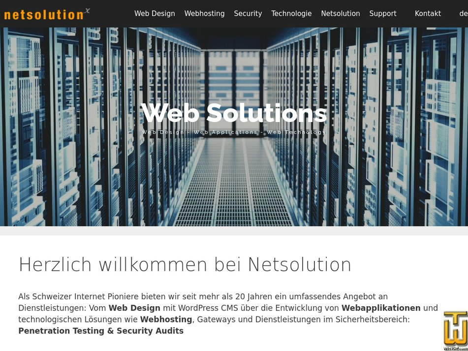 netsolution.ch Screenshot
