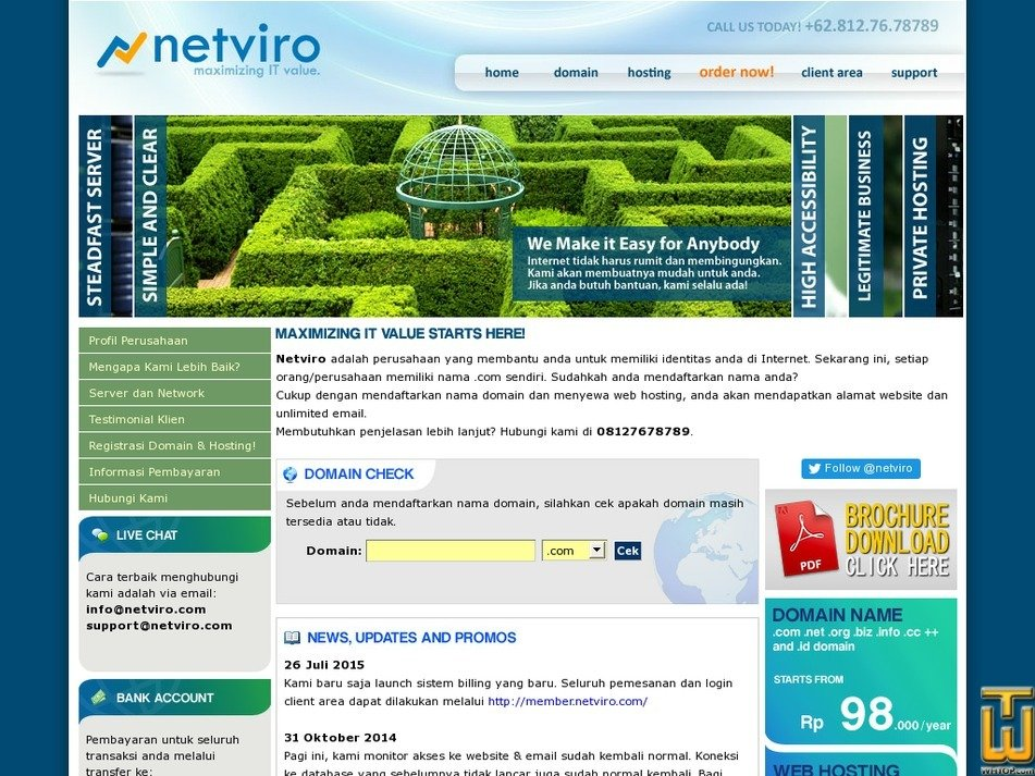 netviro.com Screenshot