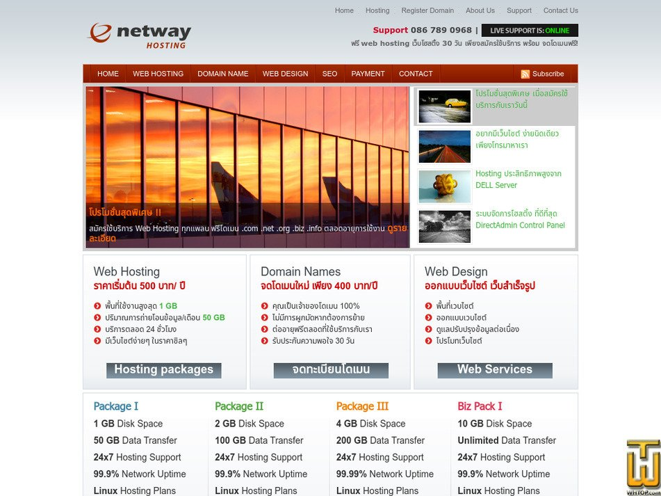 netwayhost.com Screenshot