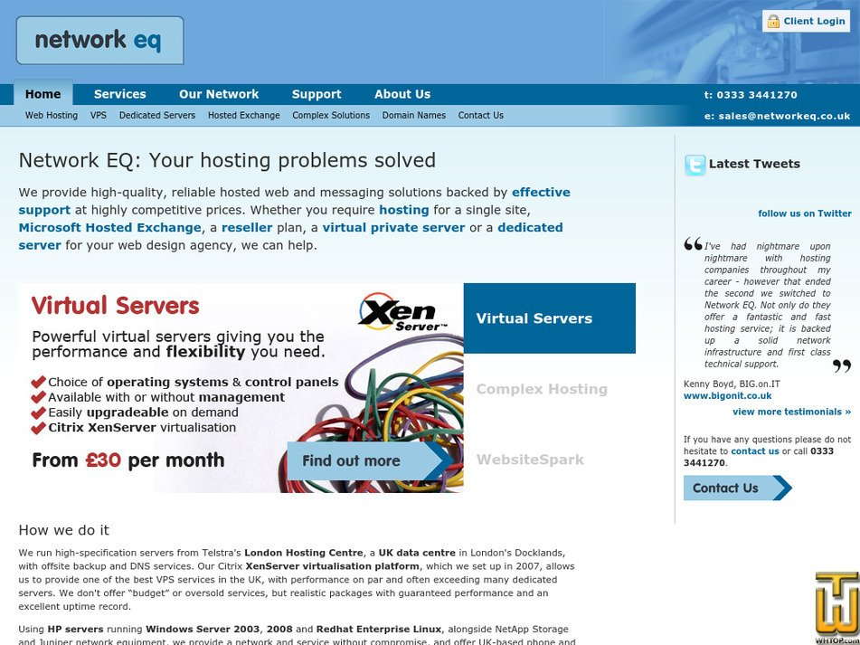 networkeq.co.uk Screenshot
