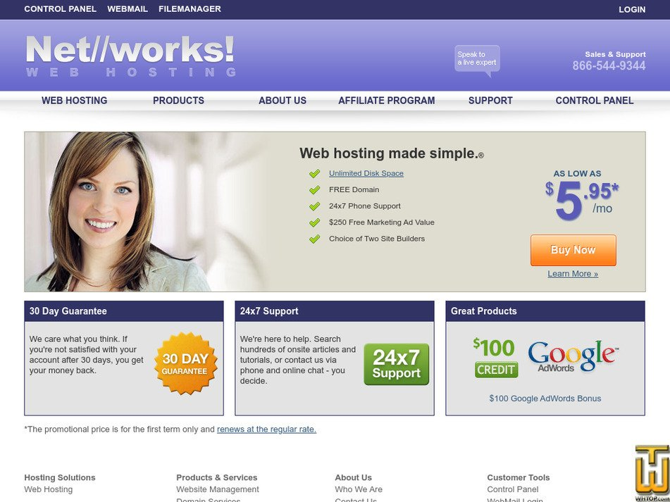 networkshosting.com Screenshot