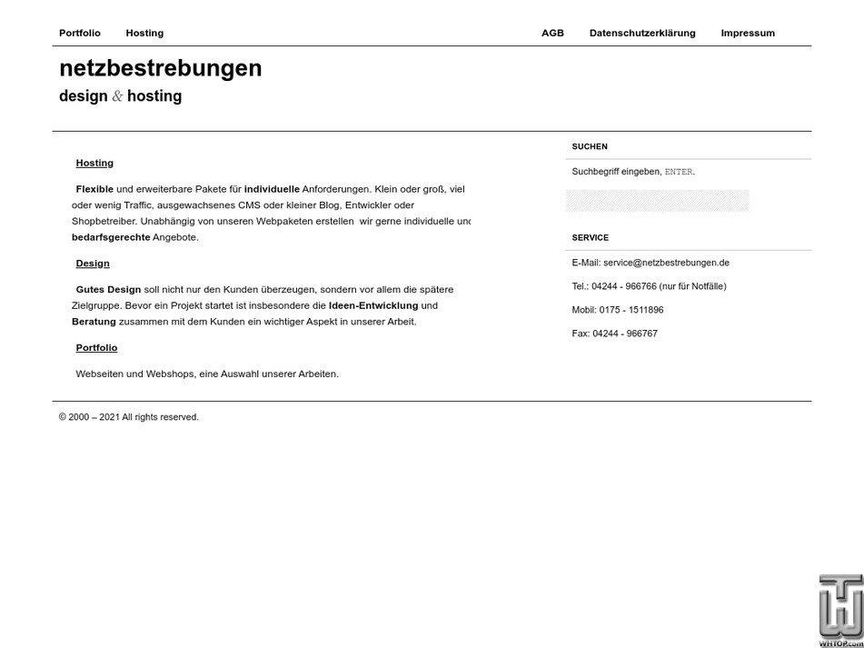 netzbestrebungen.de Screenshot