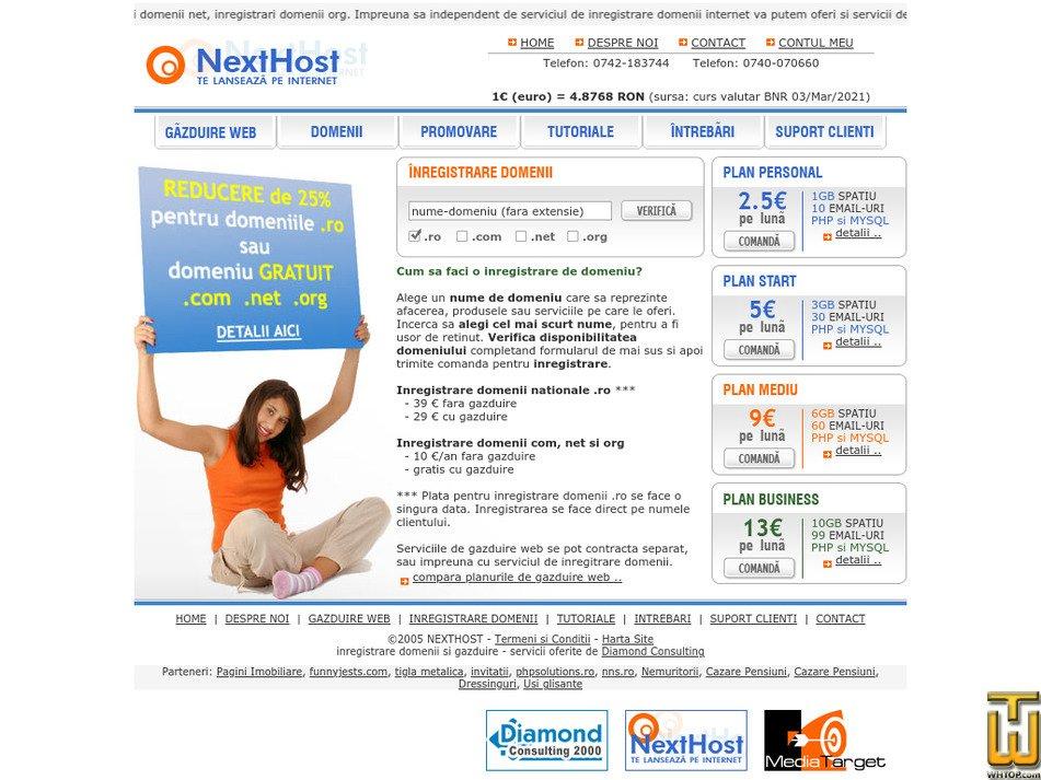 nexthost.ro Screenshot