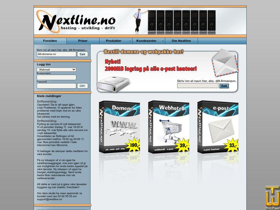 nextline.no Screenshot