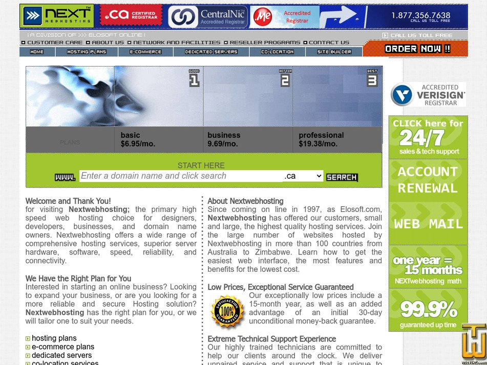 nextwebhosting.com Screenshot
