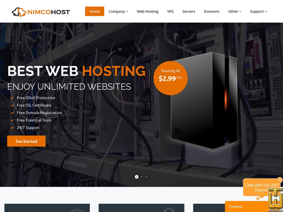 nimcohost.com Screenshot