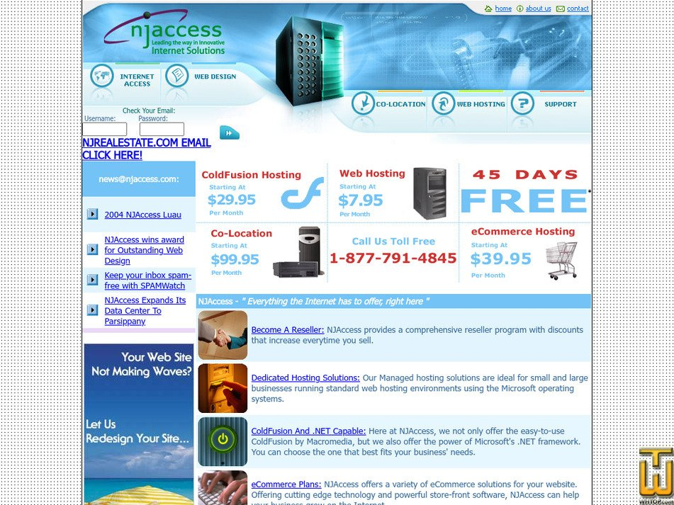 njaccess.com Screenshot