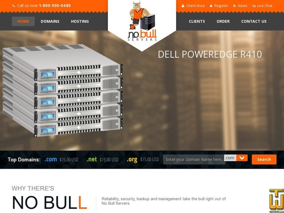 nobullservers.com Screenshot