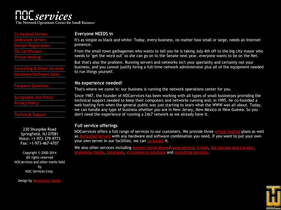 nocservices.com Screenshot