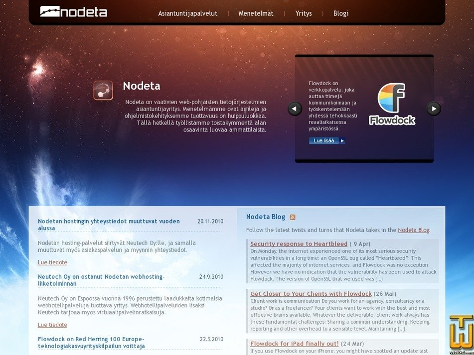 nodeta.fi Screenshot