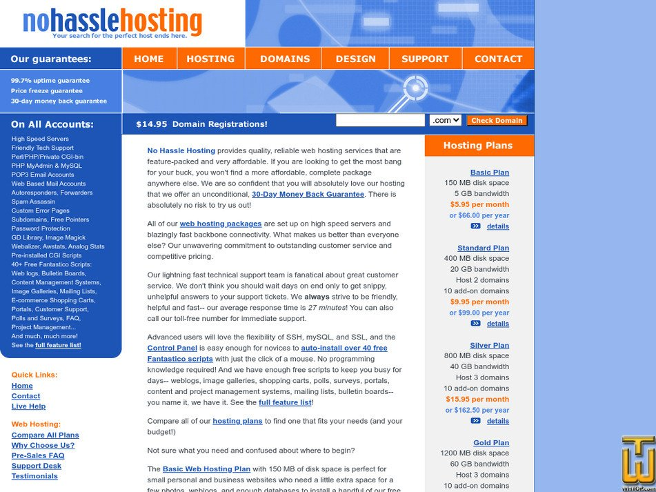 nohasslehosting.net Screenshot