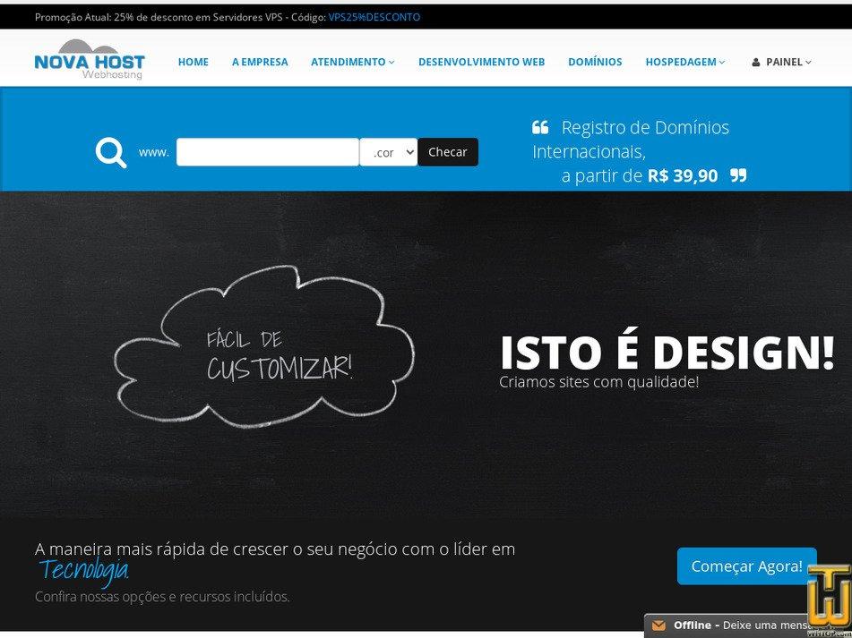 novahost.com.br Screenshot