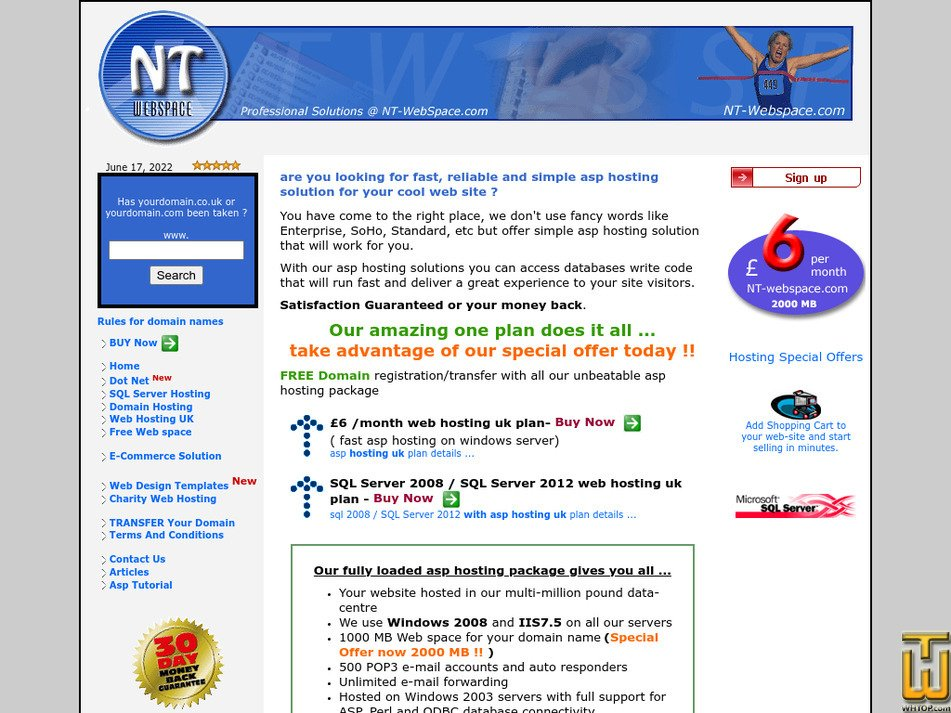 nt-webspace.com Screenshot